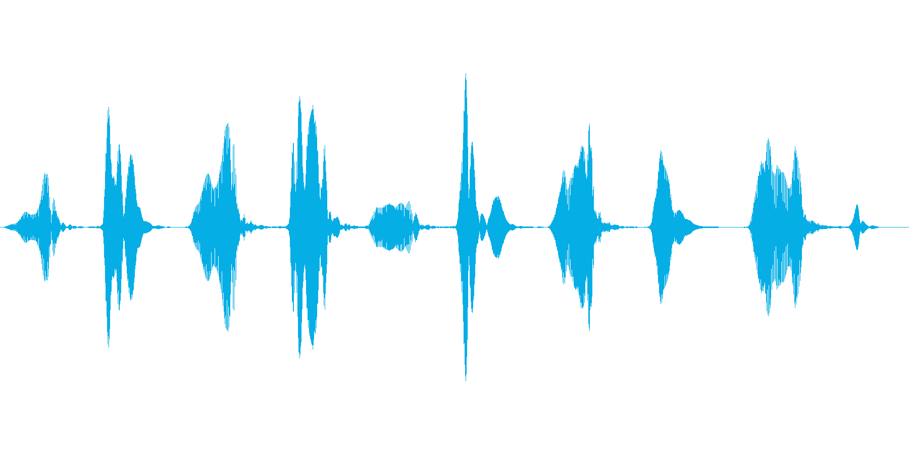 キュッキュッ(窓などをこする音)ループの再生済みの波形