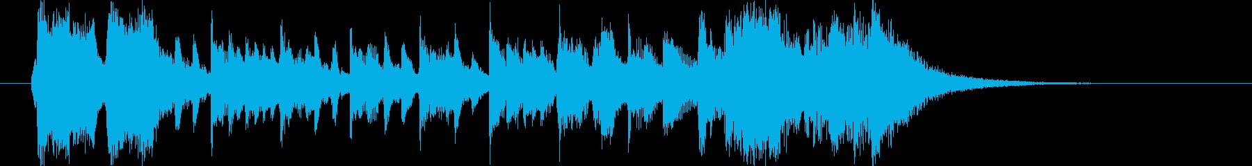 盛大でファンタジーなシンセピアノサウンドの再生済みの波形