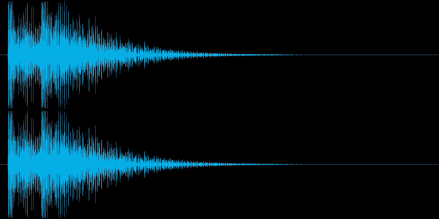ドンドン! (扉をノック・2回)-Aの再生済みの波形
