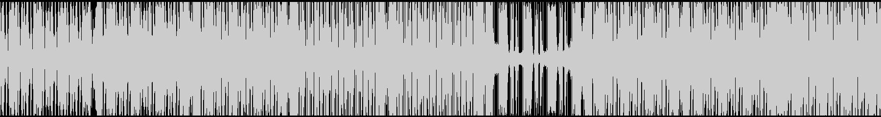ノリの良いベースとビートの四つ打ちテクノの未再生の波形
