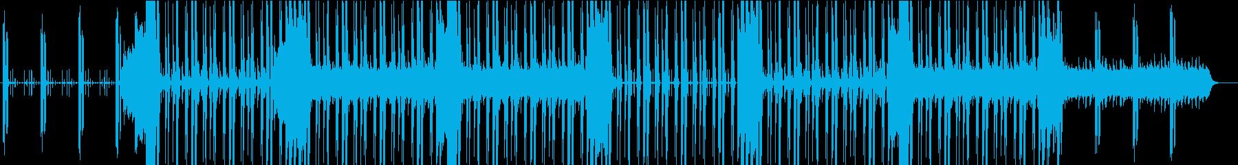 製品PR無機質なエレクトロビートとハープの再生済みの波形