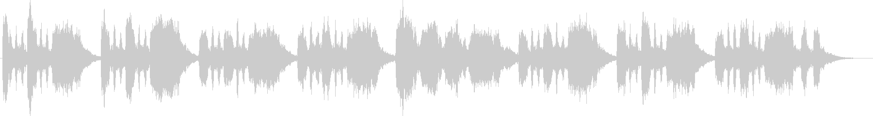 バスーンとシンセのコミカルなジングルの未再生の波形