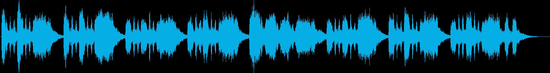 バスーンとシンセのコミカルなジングルの再生済みの波形