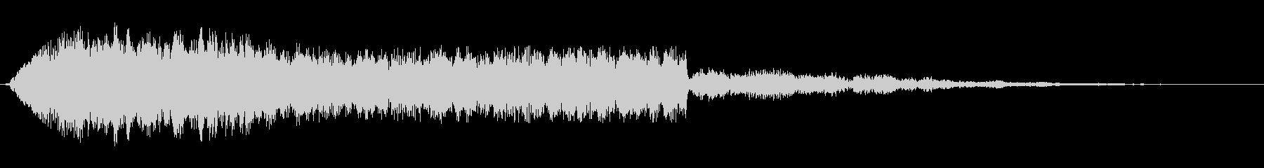シンセサイザーのオープニングテーマ曲の未再生の波形