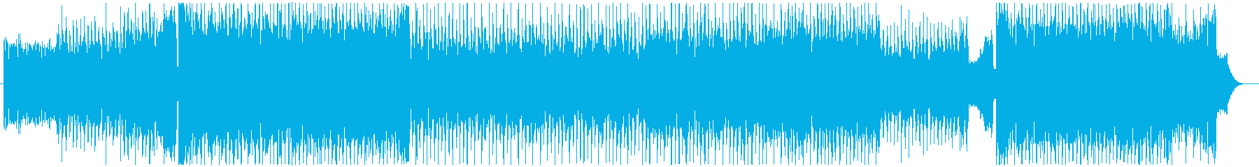 怪しく歪な雰囲気のEDM系BGMの再生済みの波形