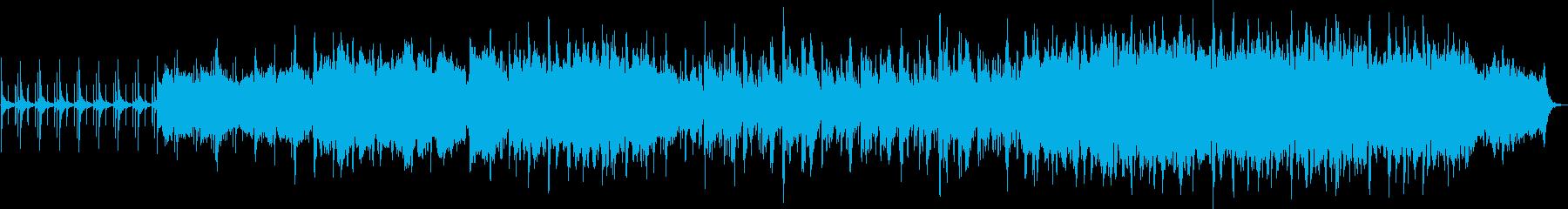 短音のステップが足音を連想させる曲です。の再生済みの波形