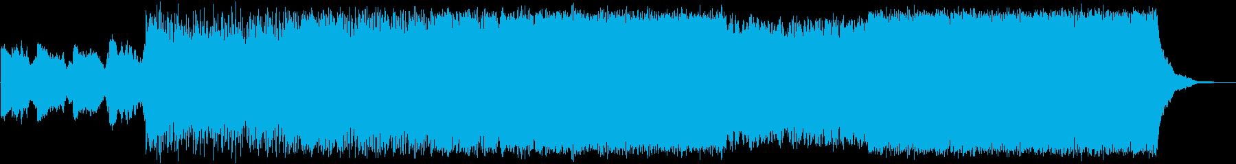 ダークなテクスチャーの再生済みの波形