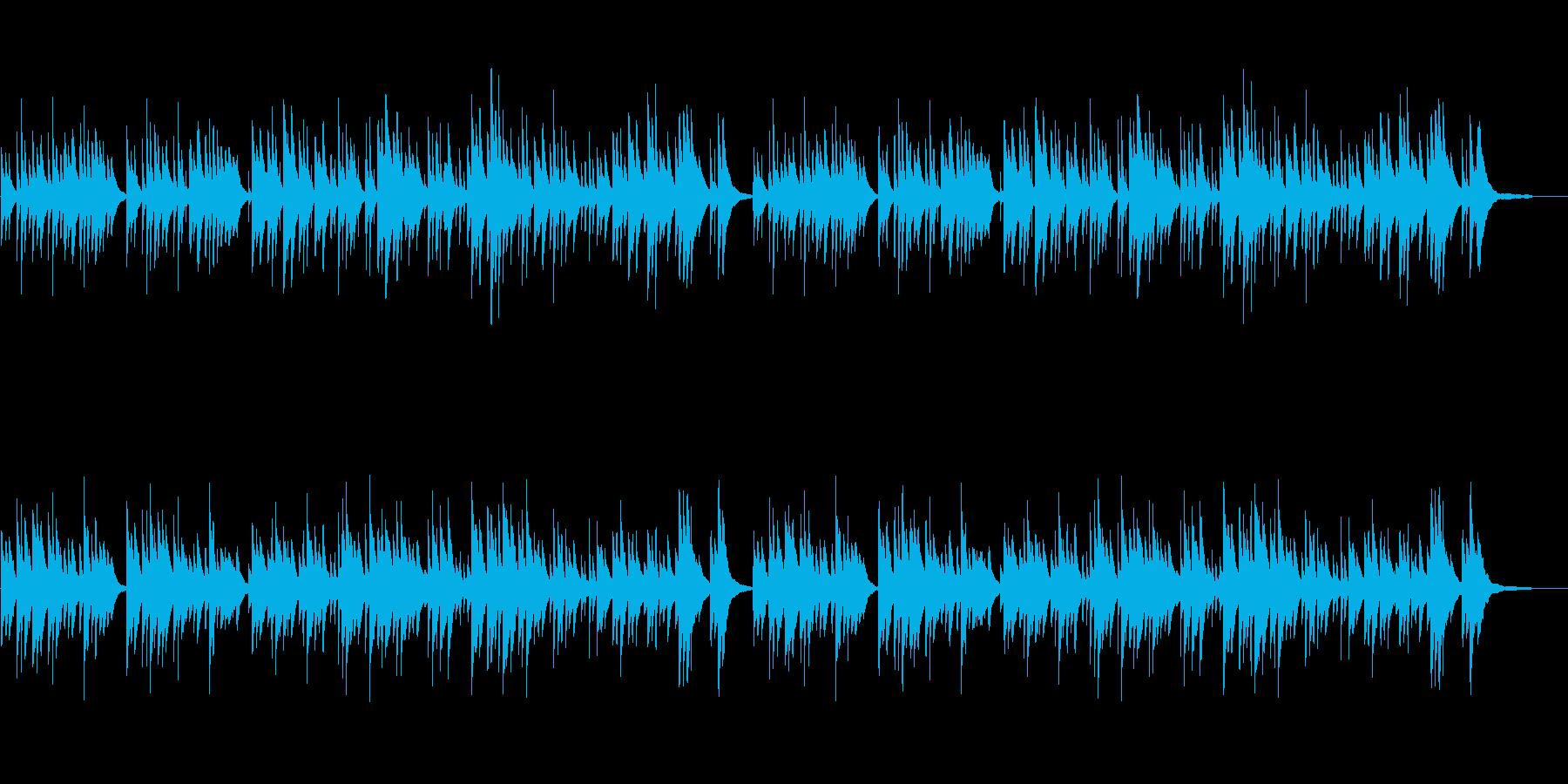 温かい切ないシーン向け ピアノソロの再生済みの波形