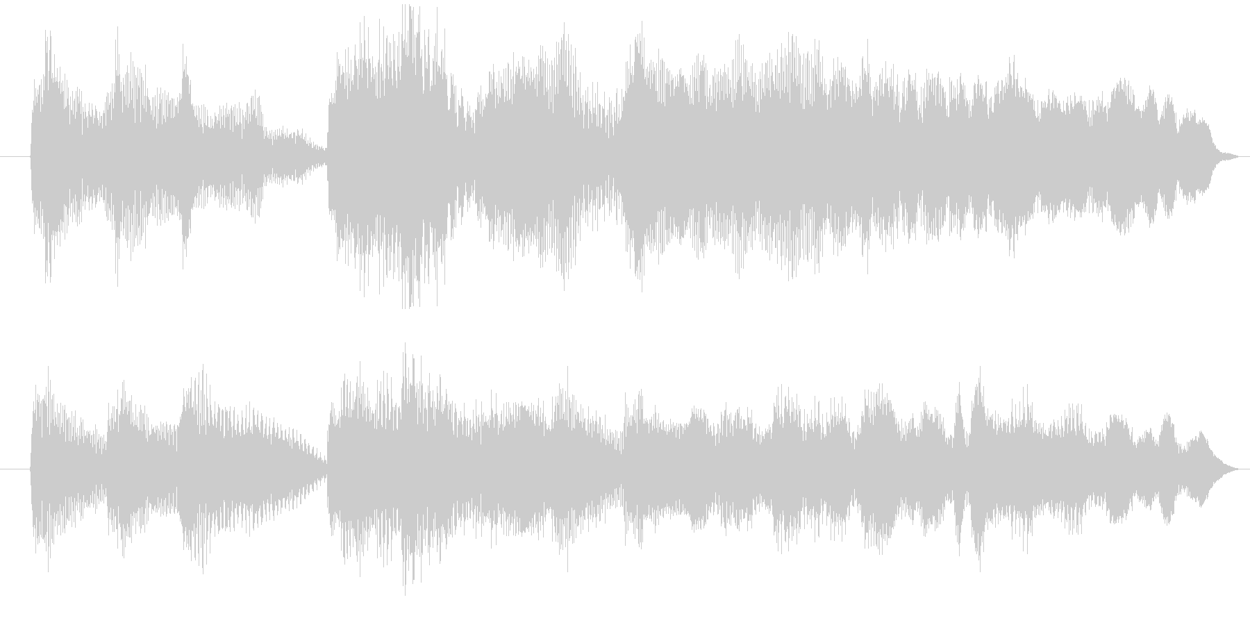 クラシカルな音源の未再生の波形