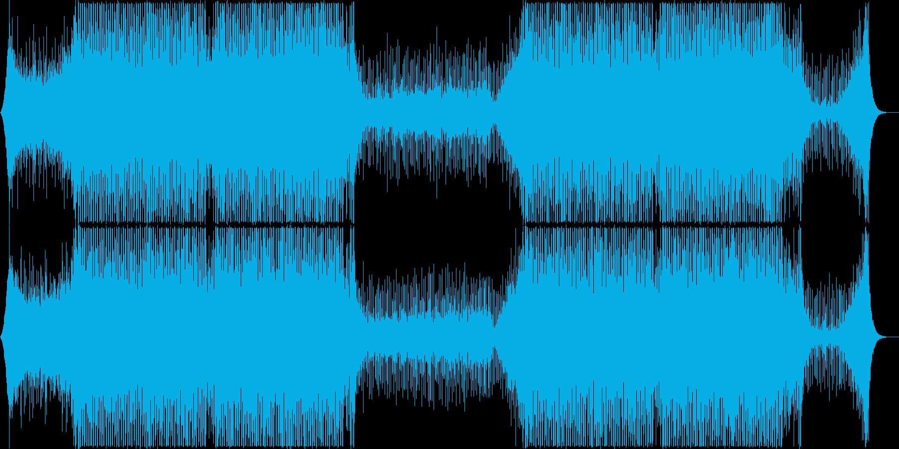 近未来的なクラブミュージック系EDMの再生済みの波形