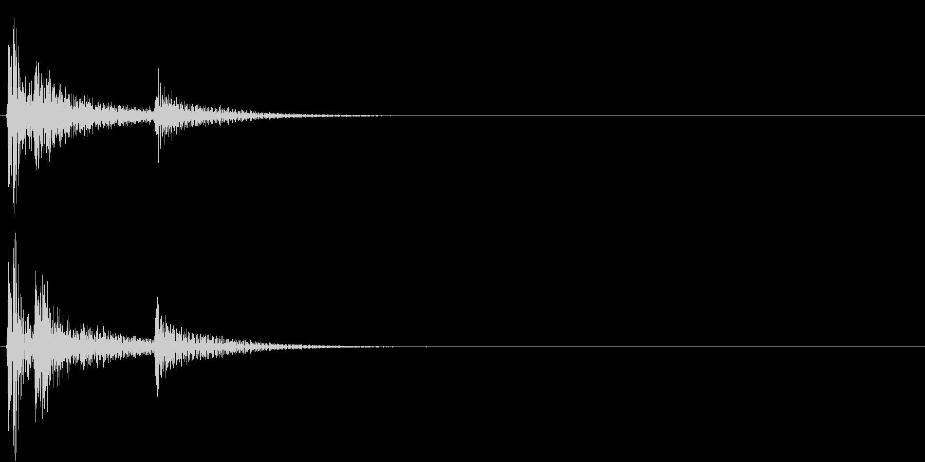 【生録音】お茶碗に箸が当たる音 単発 2の未再生の波形