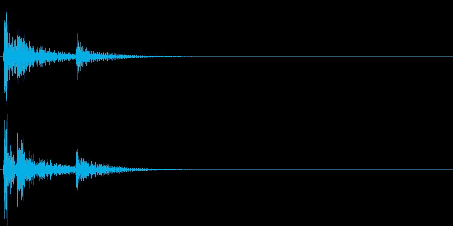【生録音】お茶碗に箸が当たる音 単発 2の再生済みの波形