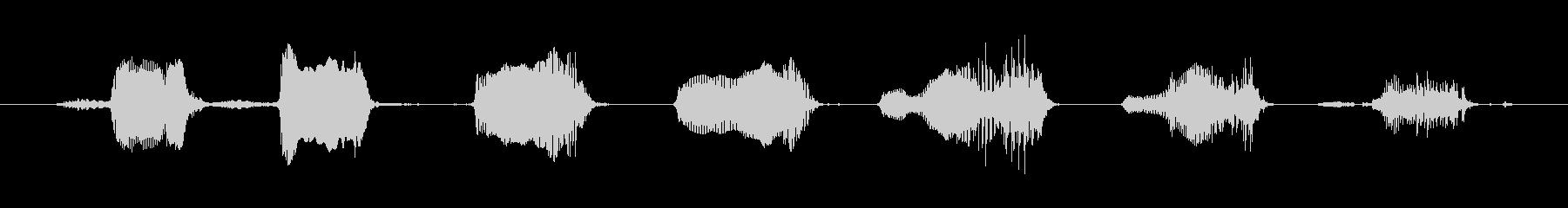 鳴き声 笑い声01の未再生の波形