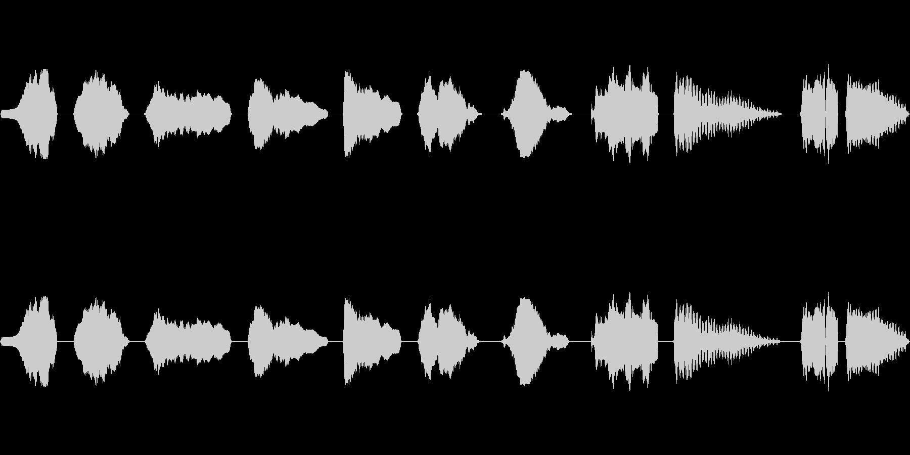フルート、スライド、上、下、音楽、...の未再生の波形