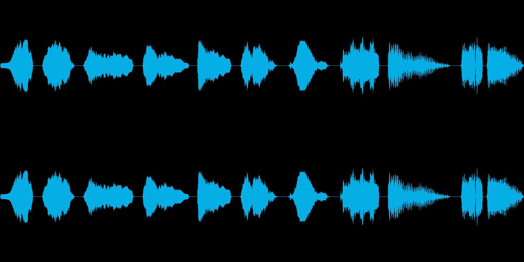 フルート、スライド、上、下、音楽、...の再生済みの波形