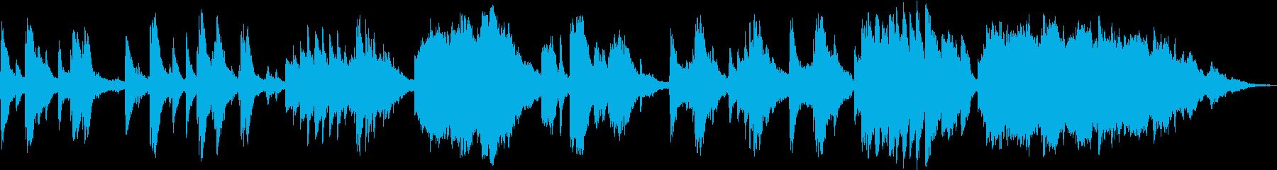 ピアノとストリングスによる涙を誘う葬送曲の再生済みの波形