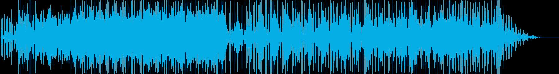繰り返されるリズミカルなエレクトロ...の再生済みの波形