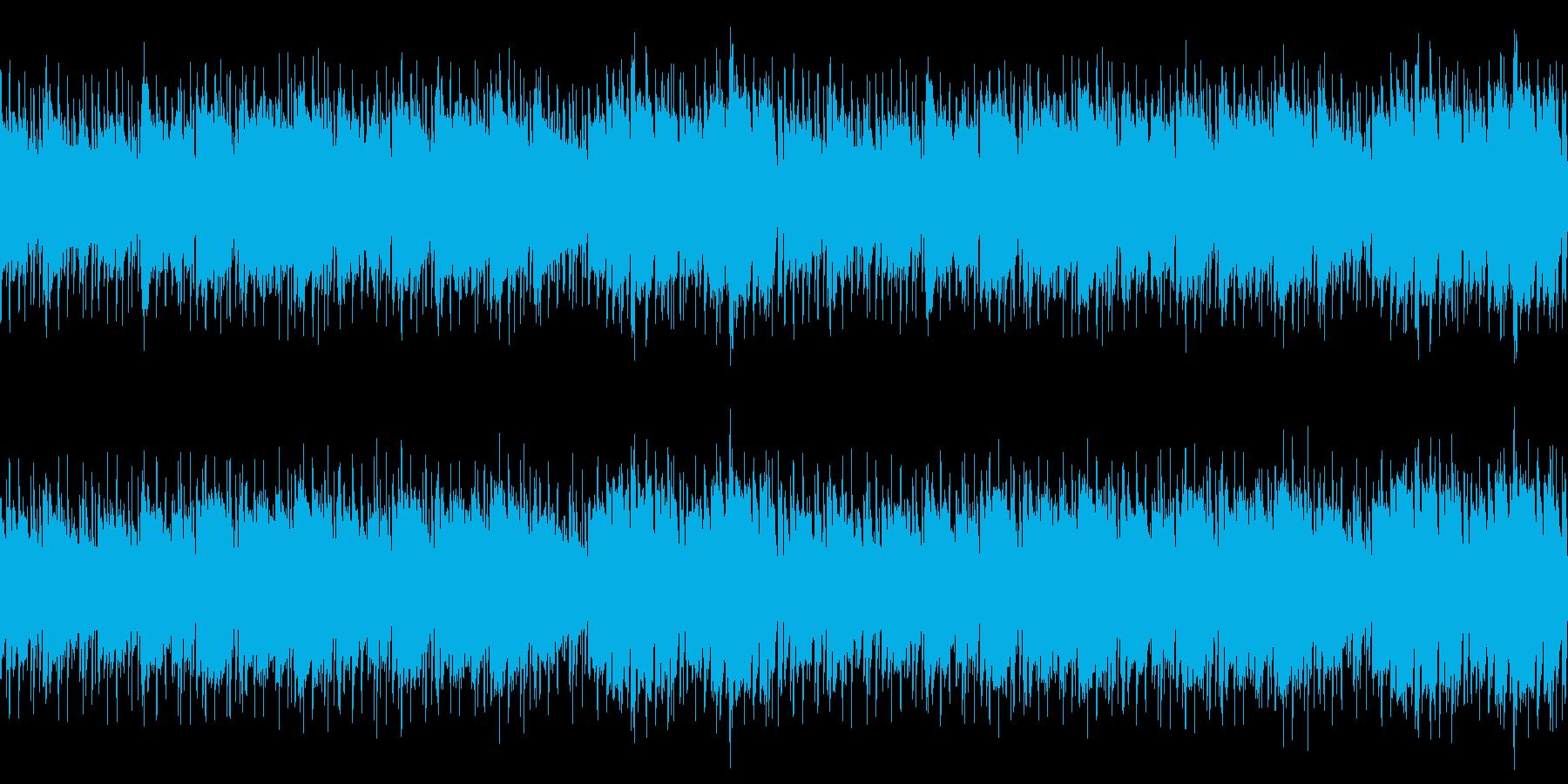 静かな場面に似合いそうなアコギ曲の再生済みの波形