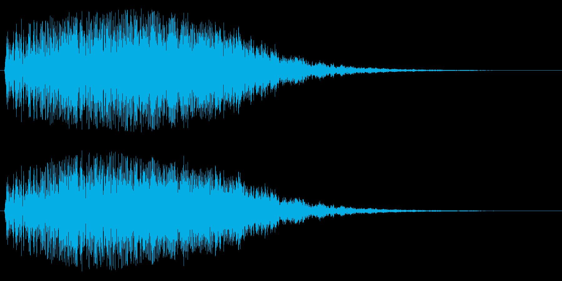 シャララ系アップ(明るい)の再生済みの波形