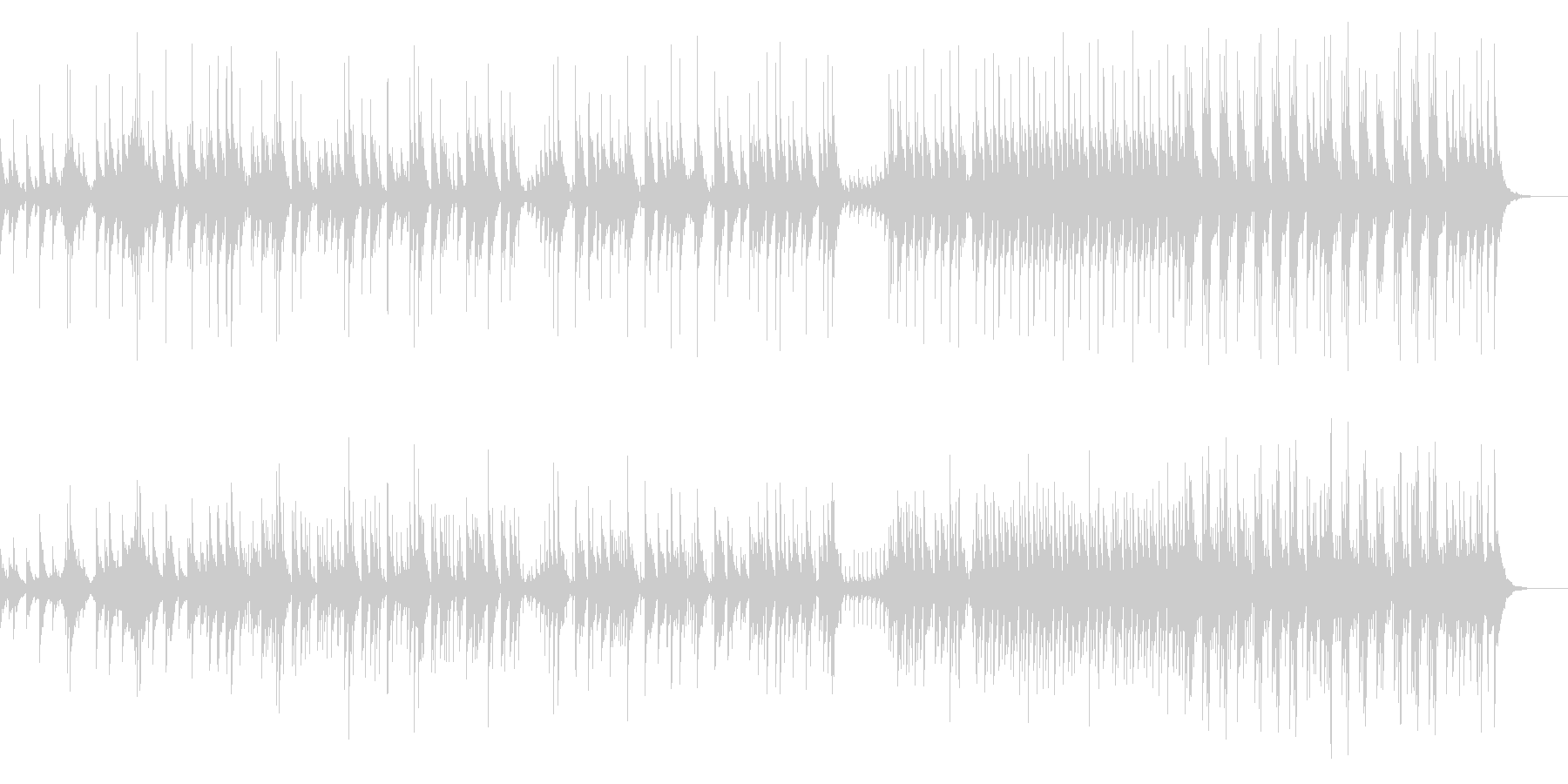 大太鼓と大拍子のアンサンブルの未再生の波形