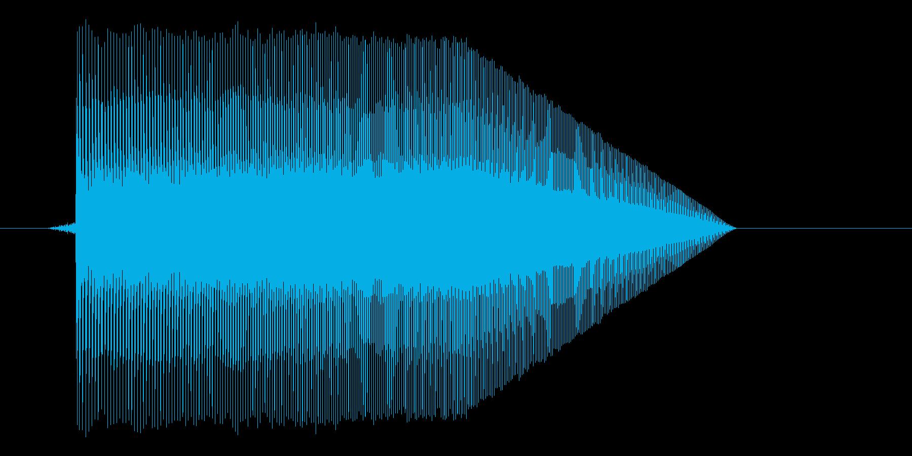 ゲーム(ファミコン風)ジャンプ音_007の再生済みの波形