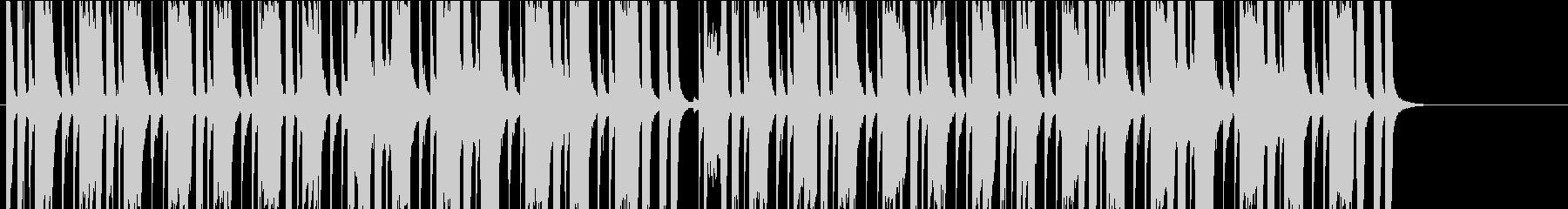 クラシックロック系の緊迫あるBGMの未再生の波形