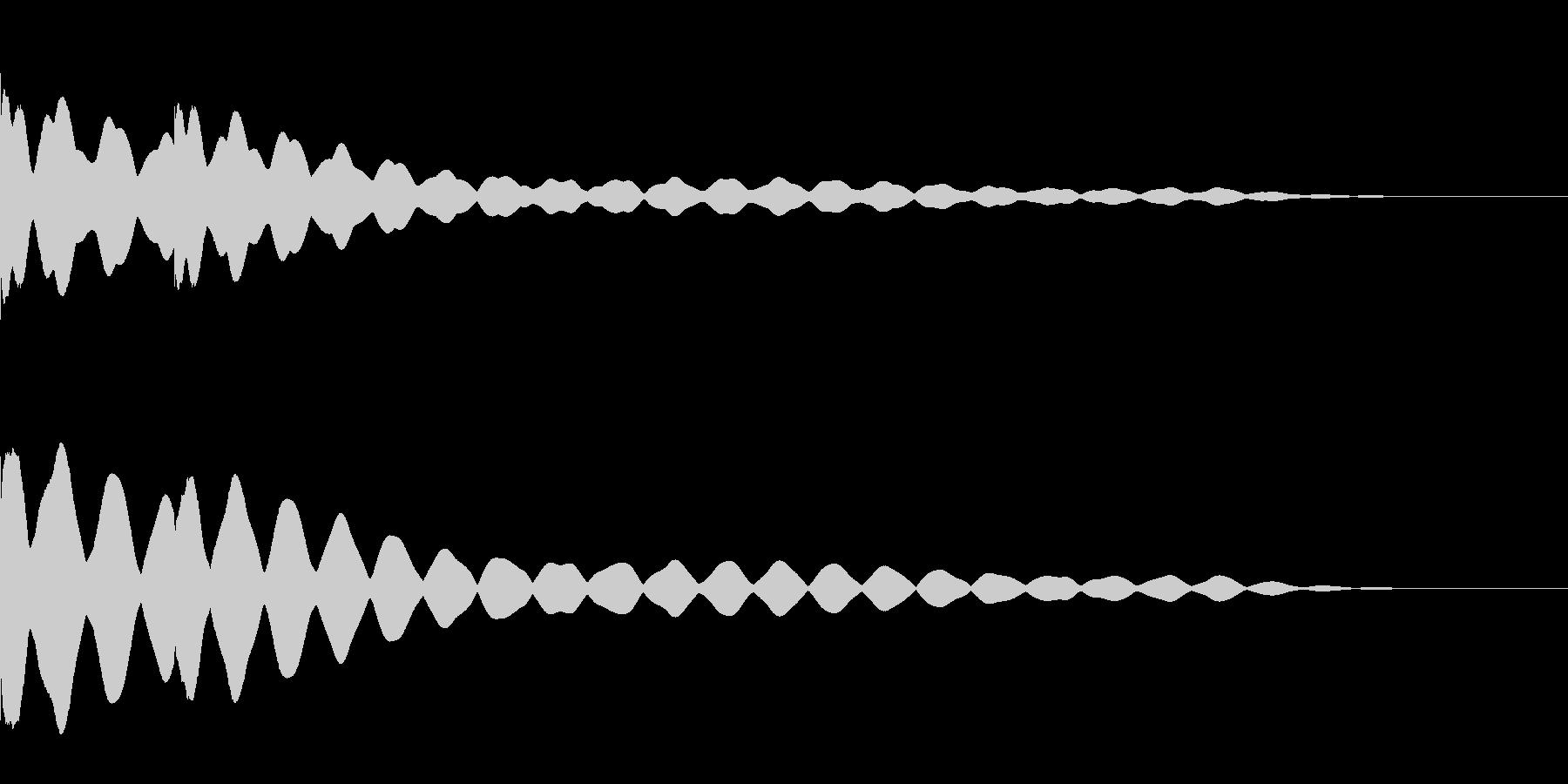 チーンチーン 仏壇の鐘の音1 リバーブ付の未再生の波形