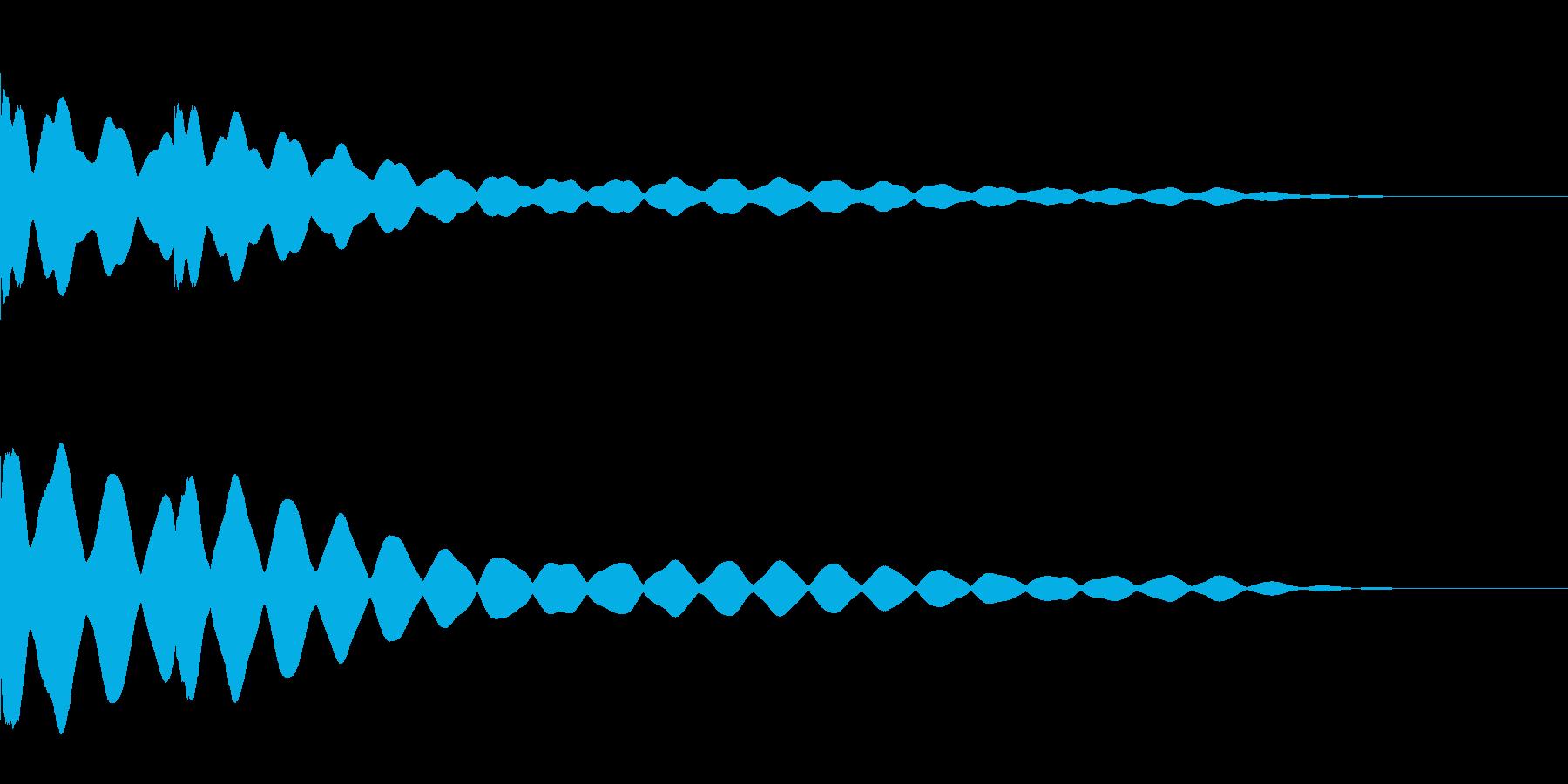 チーンチーン 仏壇の鐘の音1 リバーブ付の再生済みの波形