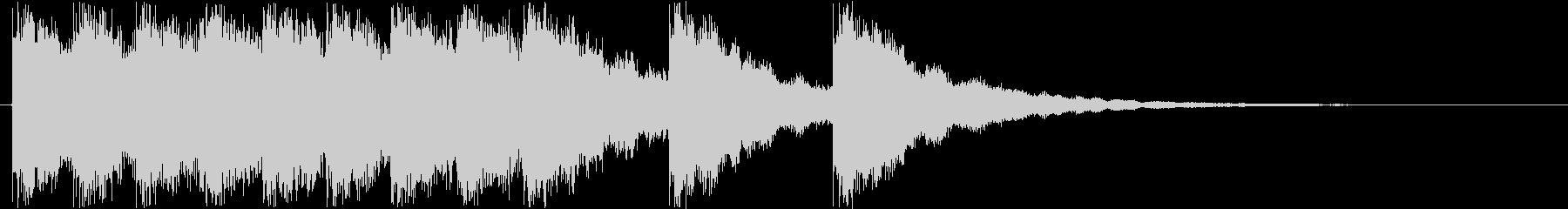 キンコンカンコンの未再生の波形