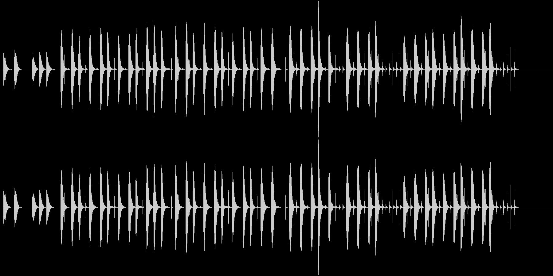 コミカルな場面で使えそうな木琴の曲の未再生の波形