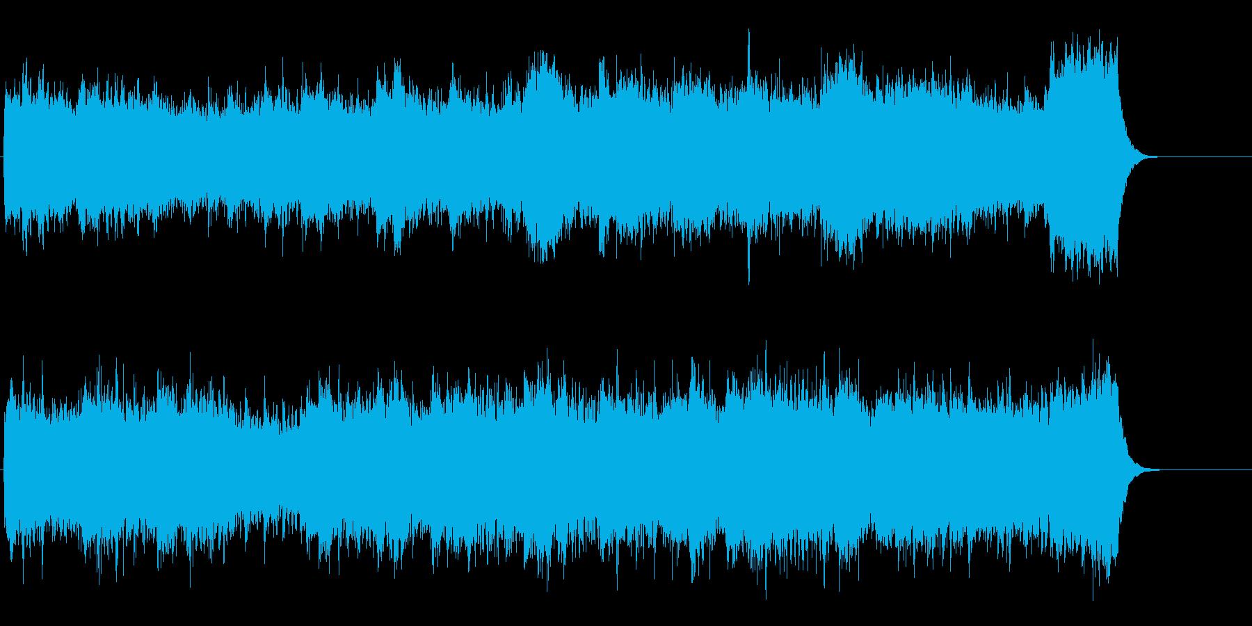 しっとりリラックスできるストリングス曲の再生済みの波形