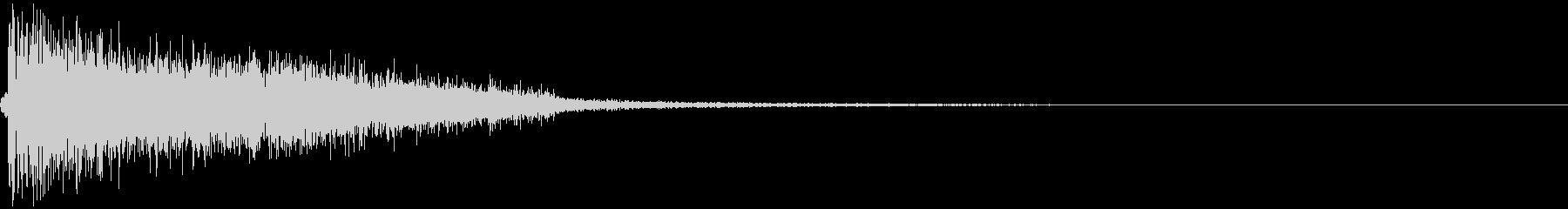 ブラスのヒット音の未再生の波形