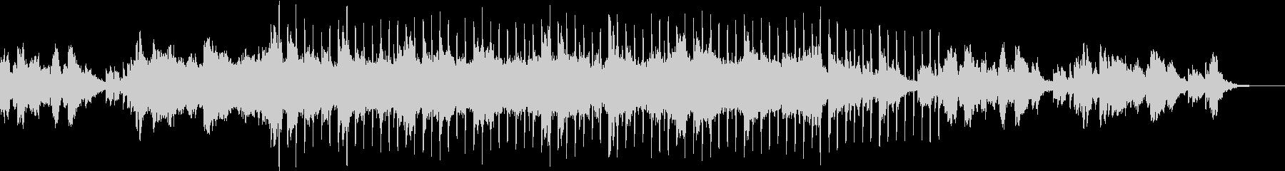シンセの海に潜るアンビエント曲の未再生の波形