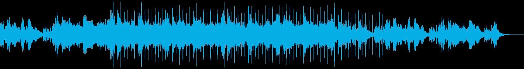 シンセの海に潜るアンビエント曲の再生済みの波形