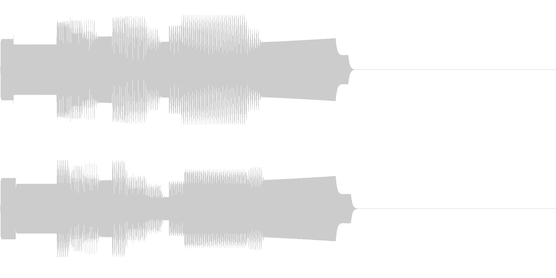 ファミコン調のレベルアップ音の未再生の波形