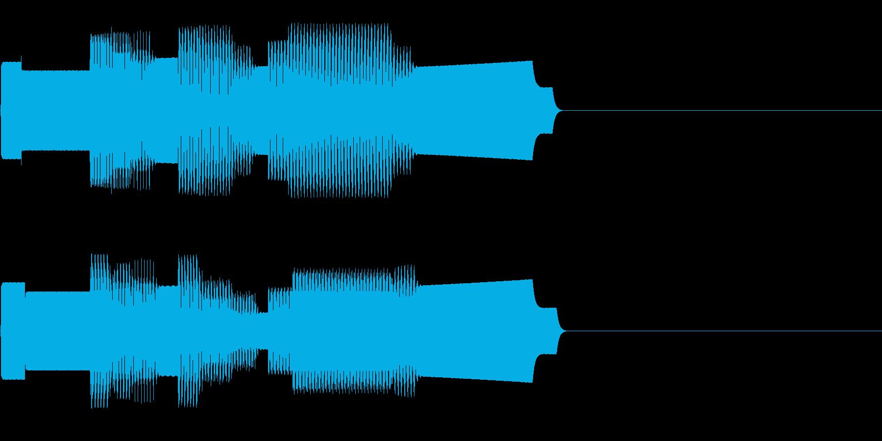 ファミコン調のレベルアップ音の再生済みの波形