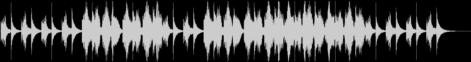 アコギとフルートのしっとりとした曲の未再生の波形