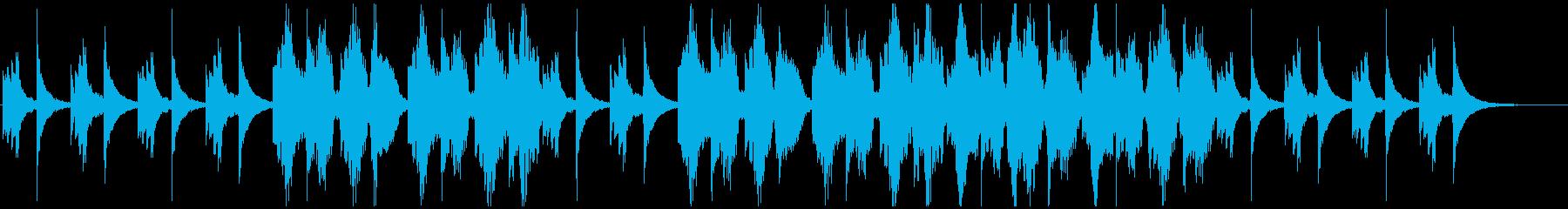 アコギとフルートのしっとりとした曲の再生済みの波形