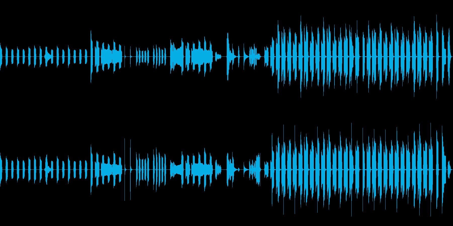 ピタゴラスイッチっぽいリコーダーのBGMの再生済みの波形