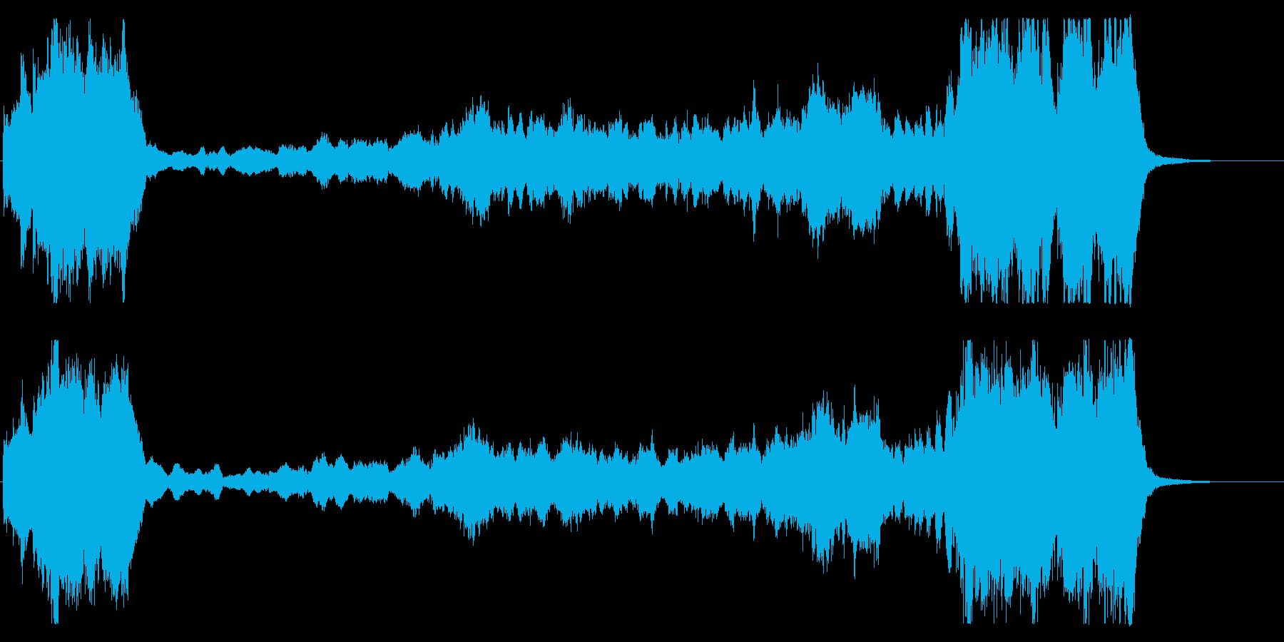 オープニング的な起伏のあるオーケストラ曲の再生済みの波形