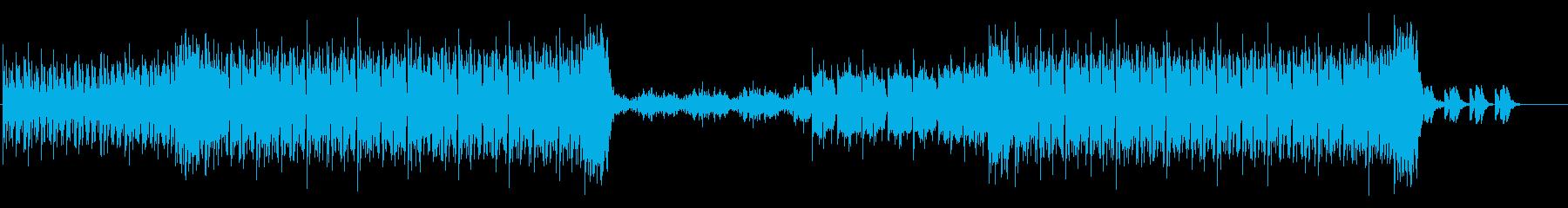 ポップで疾走感のあるBGMの再生済みの波形