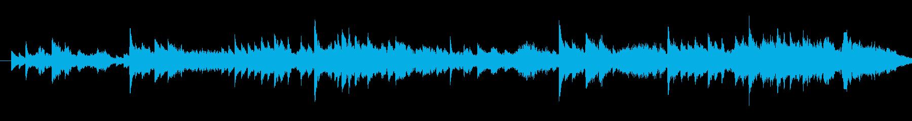 美しいい旋律のしっとりしたピアノの曲の再生済みの波形