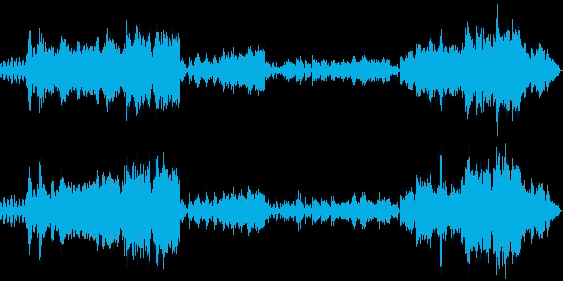 パワフルなオーケストラが映像によく合う曲の再生済みの波形