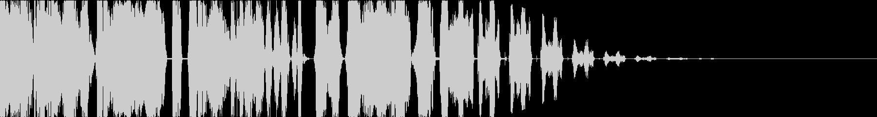 DJスクラッチ・ボーカルチョップジングルの未再生の波形