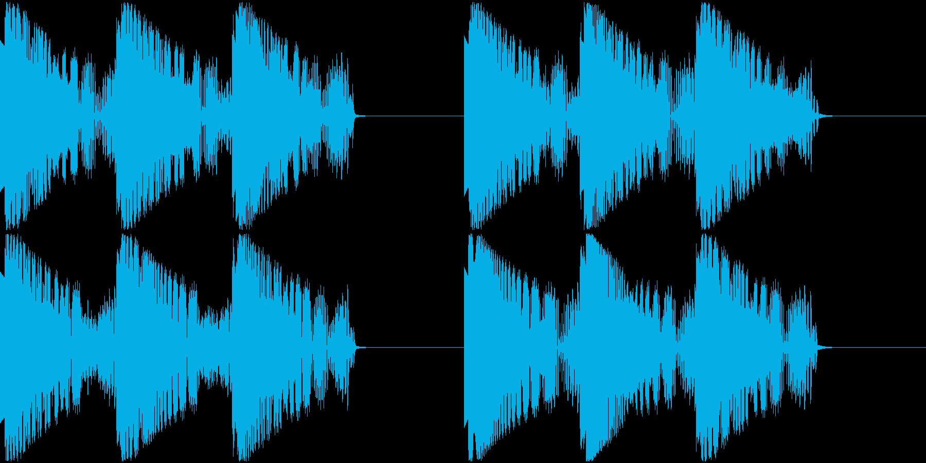 サイレン音の再生済みの波形
