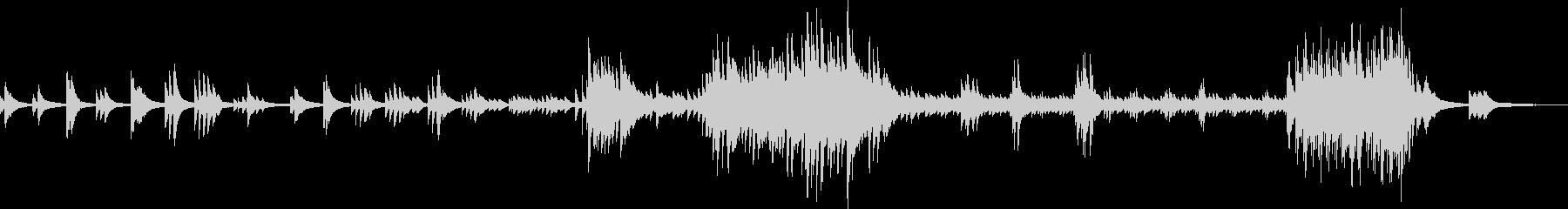 感動的で切ないピアノバラード(優しい)の未再生の波形
