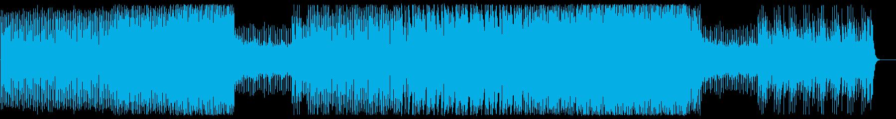 かっこいいリズムでパワフルなメロディーの再生済みの波形