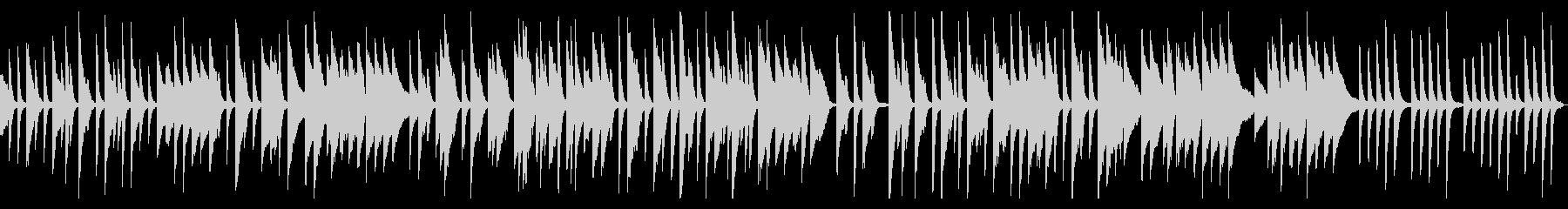 ピアノの軽くてかわいいワルツの未再生の波形
