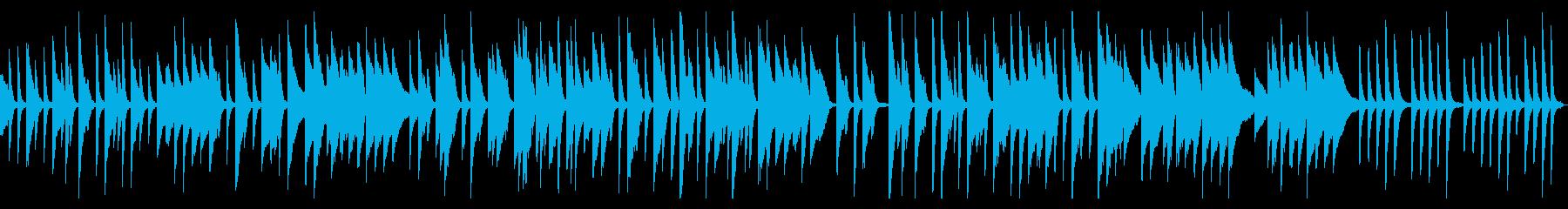 ピアノの軽くてかわいいワルツの再生済みの波形