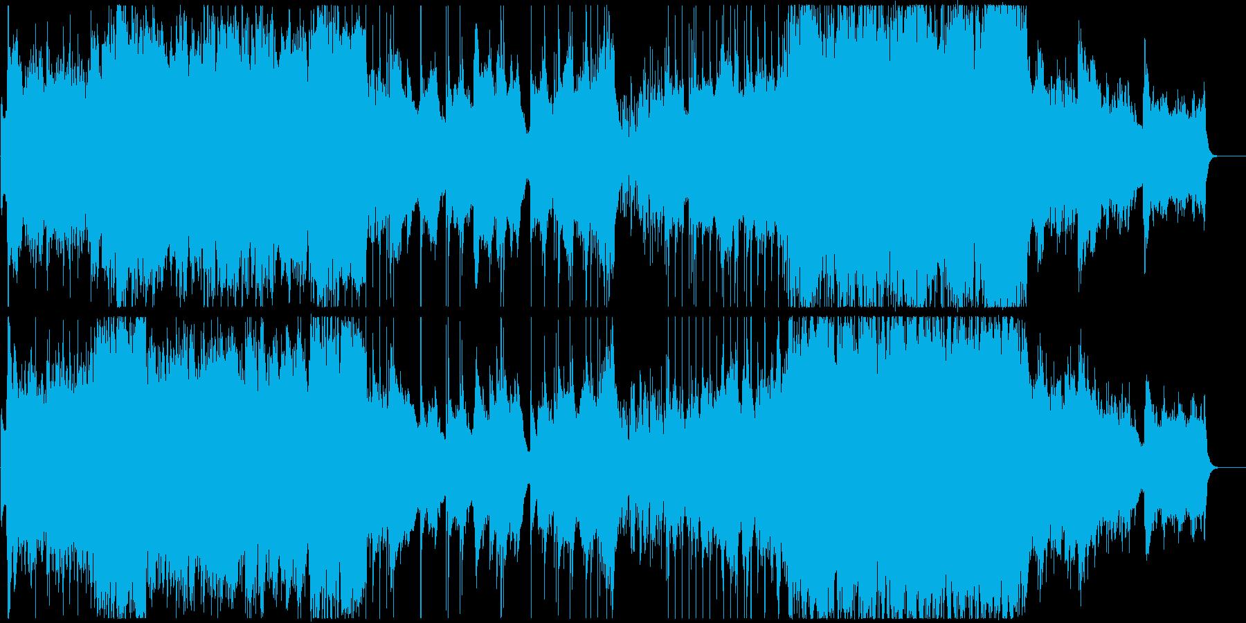 爽やかなアコギとオーケストラの再生済みの波形